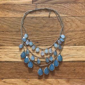Jewelry - Blue multi chain ombré necklace